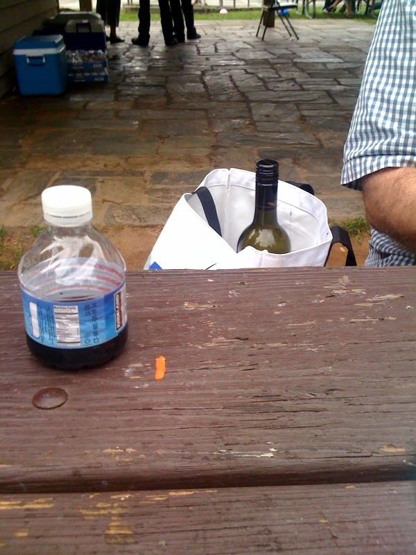 wine in waterbottlephoto